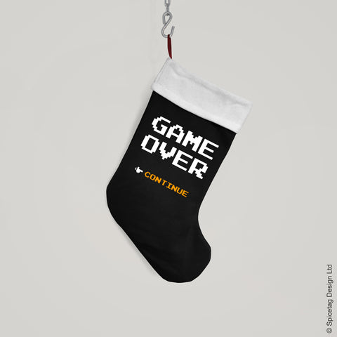 Game Over Christmas Stocking