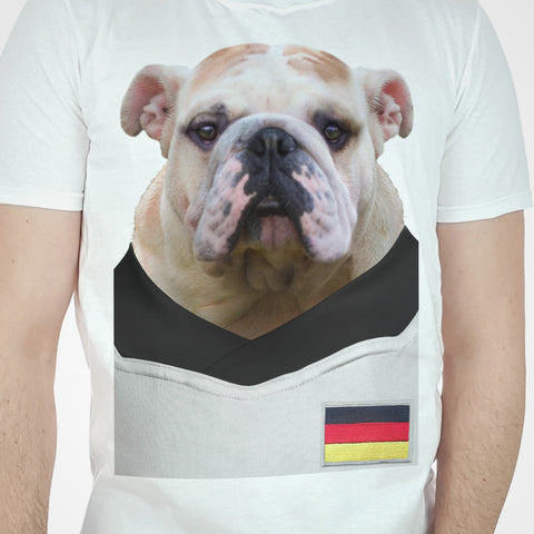 Germany Football Bulldog T-shirt