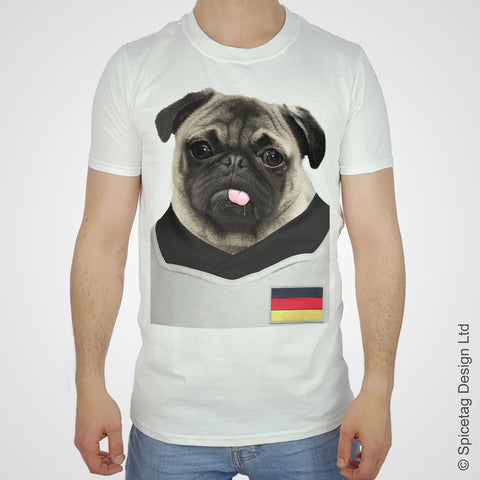 Germany Football Pug T-shirt