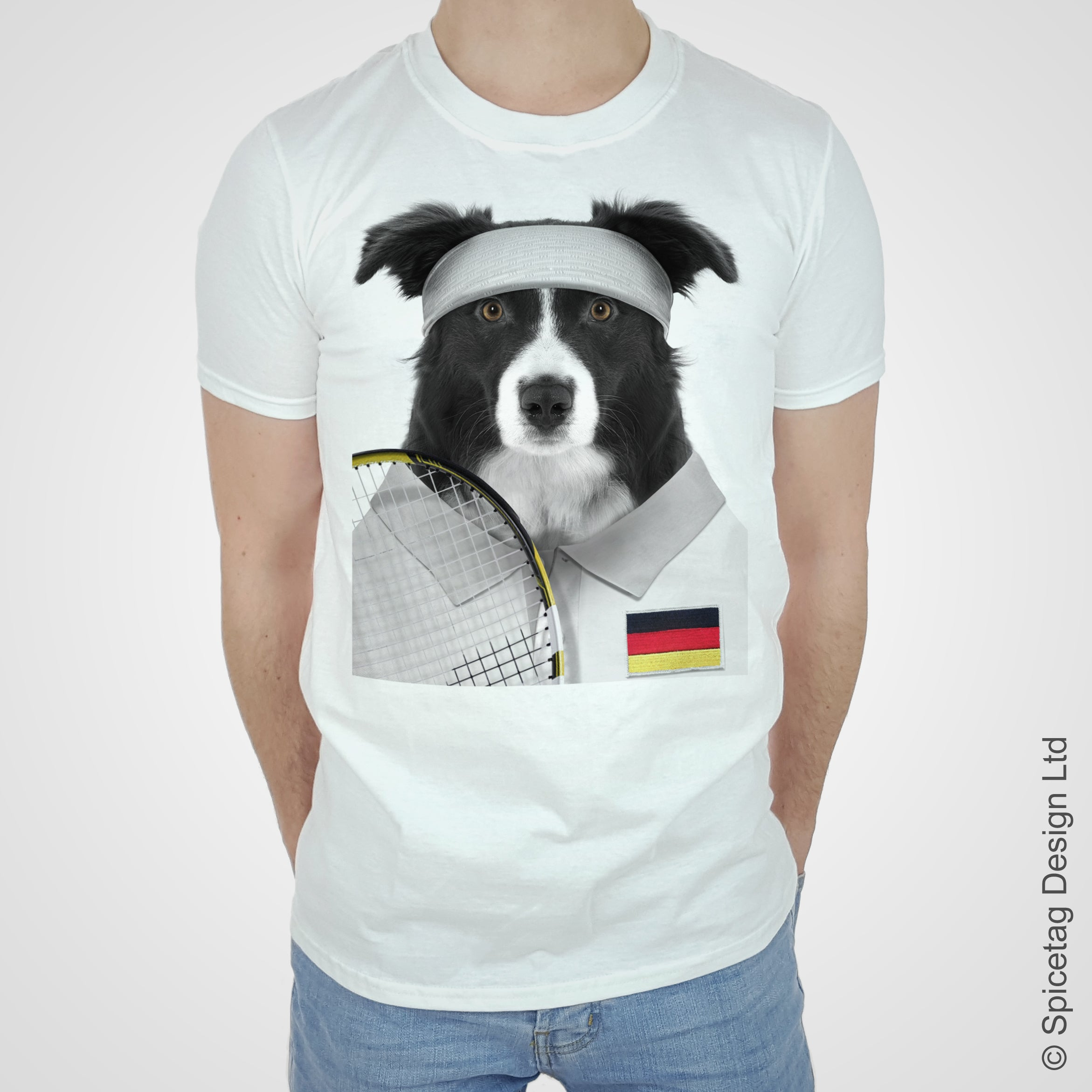 Germany Tennis Collie T-shirt
