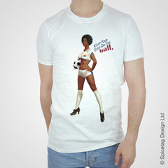 Ghana ghanaian pin up girl woman vintage football team soccer game T-shirt T shirt Tshirt Tee world cup retro stick man 70s 80s sport fashion style trend spicetag 1