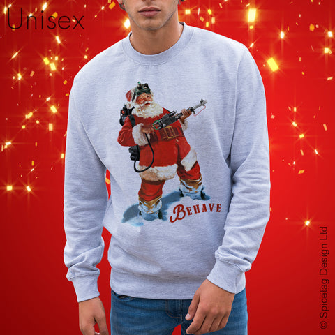 Santa Ghost Hunter Sweater