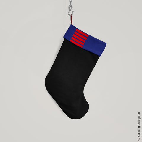 Navy Blue Smuggler Christmas Stocking