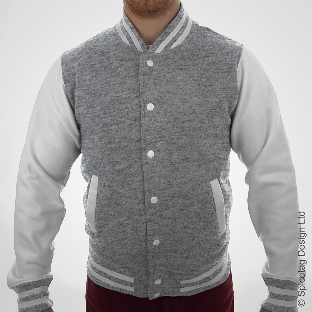 Heather Grey Varsity Jacket