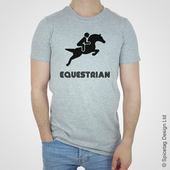 Equestrian horse horses show jumping T-shirt Tshirt T shirt Tee clothing clothes fashion style sport sports fan olympics athletics track field health fitness world competition champion