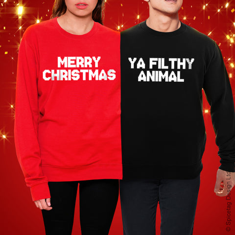Merry Christmas Ya Filthy Animal Christmas Jumper
