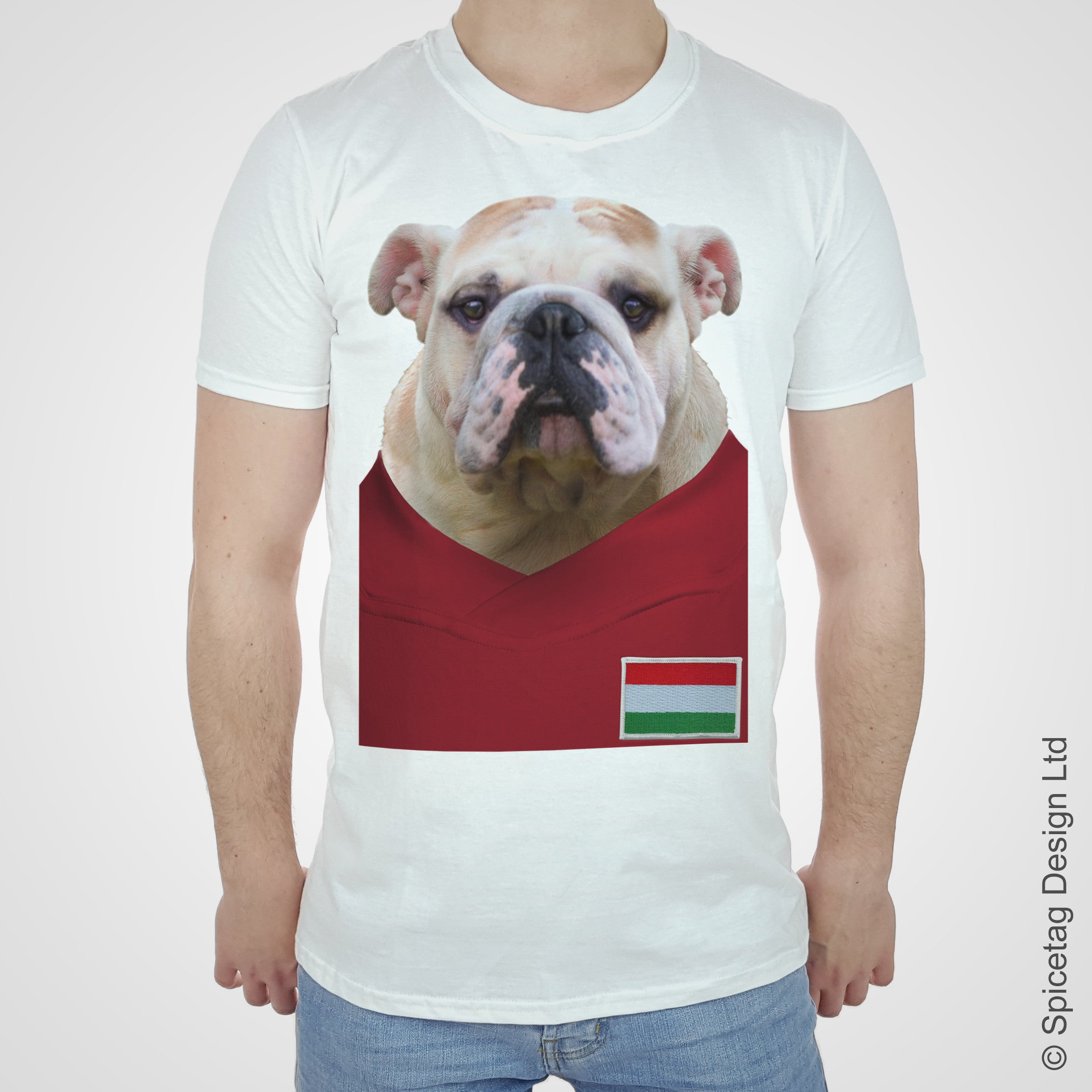 Hungary Football Bulldog T-shirt