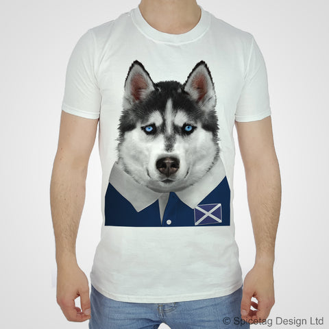 Scotland Rugby Husky Dog T-shirt