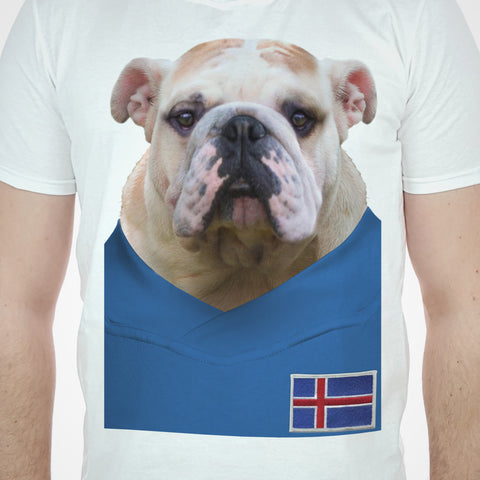 Iceland Football Bulldog T-shirt