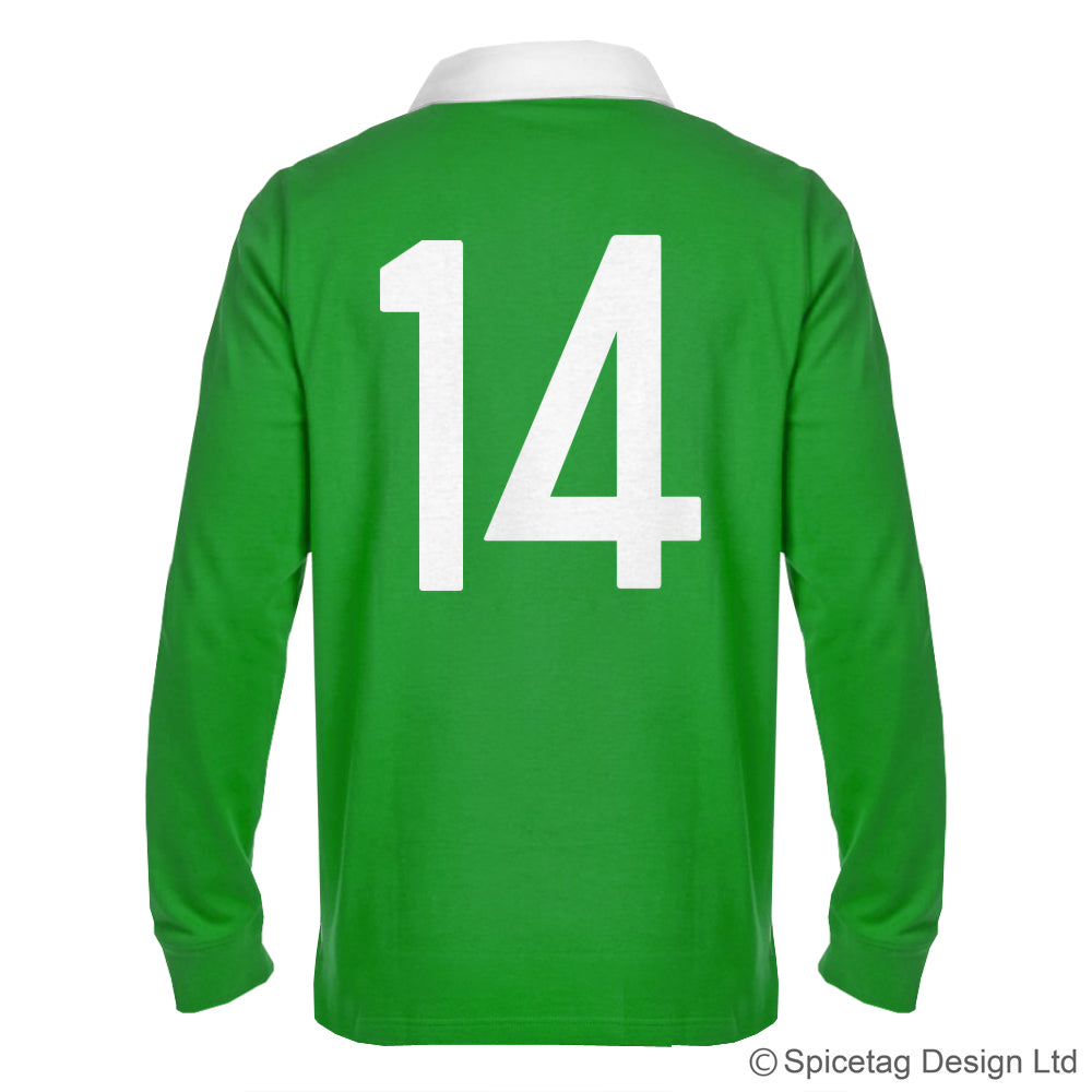 Ireland Irish Green 6 six nations rugby sweater sweatshirt top kit jumper jersey retro 70s 80s spicetag