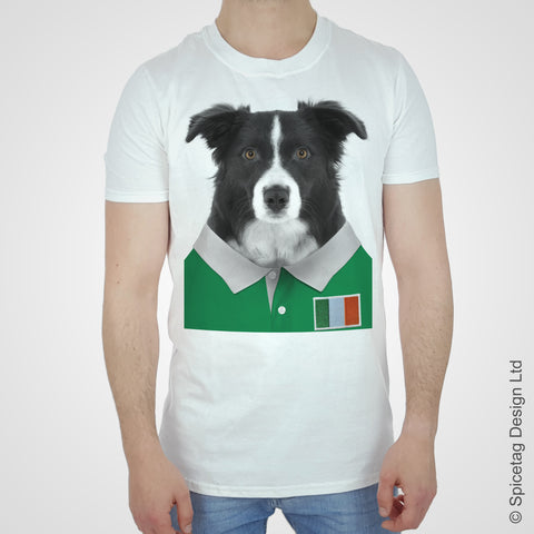 Ireland Rugby Border Collie T-shirt