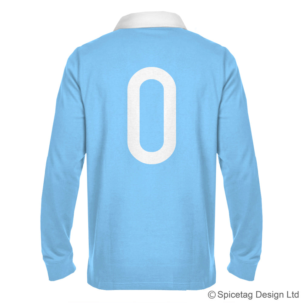 Retro Sky Blue Rugby Number Jersey