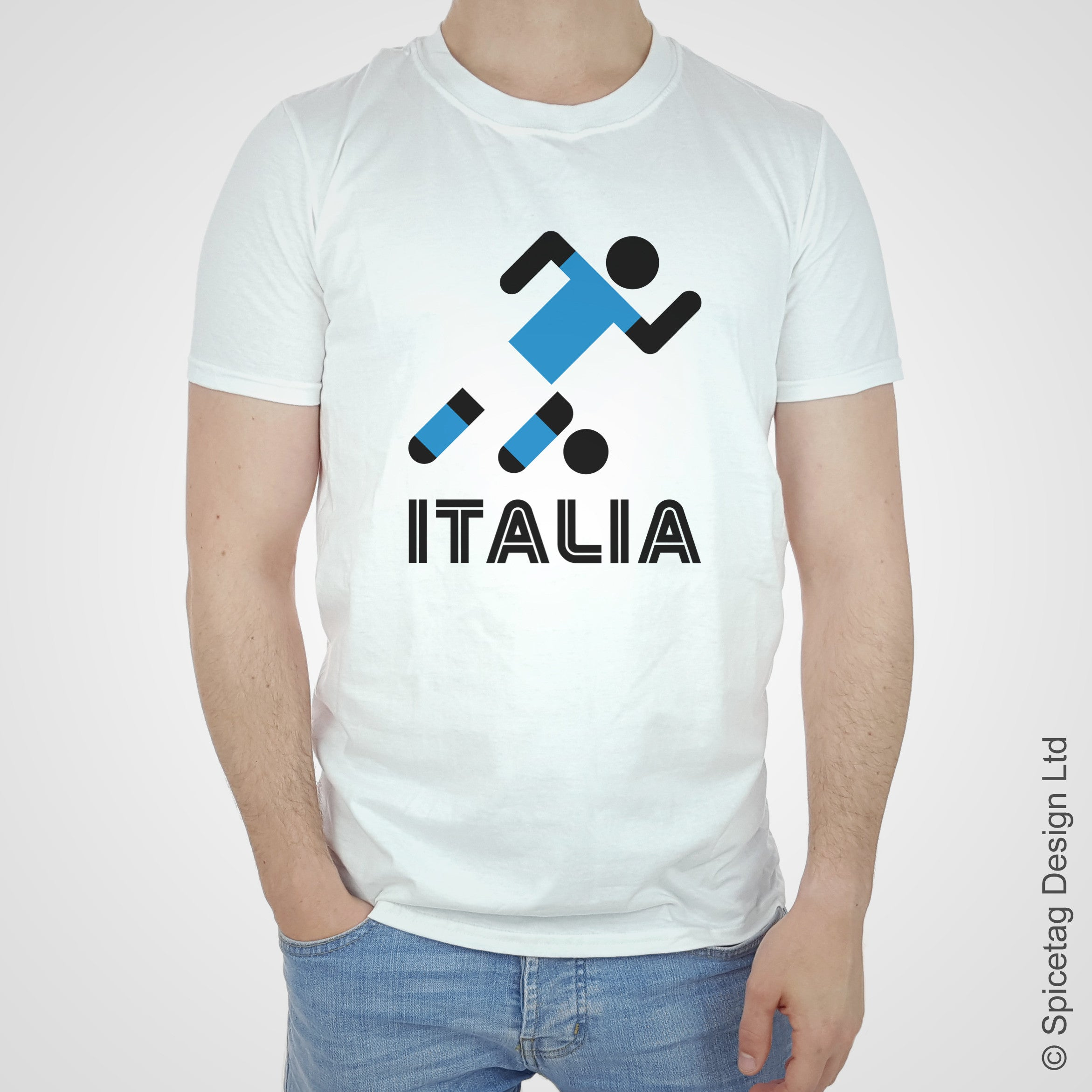 Italy Retro Football T-shirt