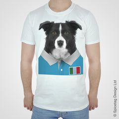 Italy Rugby Border Collie T-shirt
