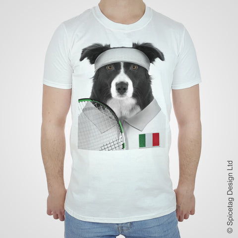 Italy Tennis Collie T-shirt