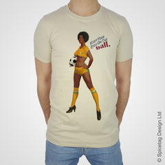 Ivory coast pin up girl woman vintage football team soccer game T-shirt T shirt Tshirt Tee world cup retro stick man 70s 80s sport fashion style trend spicetag 1