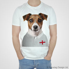 England Rugby Jack Russell Dog T-shirt