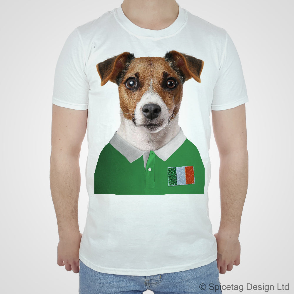 Rugby Shirt For Dog: Ireland Rugby Jack Russell Dog T-shirt