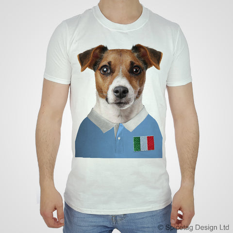 Italy Rugby Jack Russell Dog T-shirt