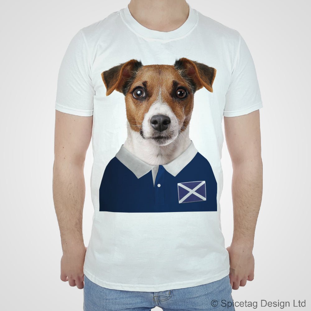 Scotland Rugby Jack Russell Dog T-shirt