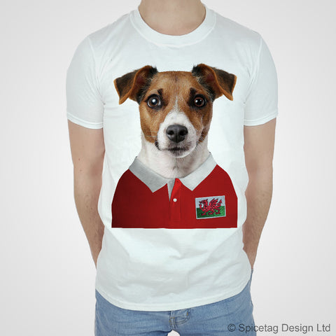 Wales Rugby Jack Russell Dog T-shirt