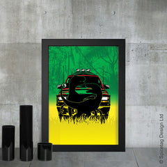 Jurassic park lost world spielberg dinosaur raptor ford explorer fallen kingdom film movie poster art print frame picture photo
