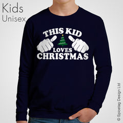 This Kid Loves Christmas Sweater