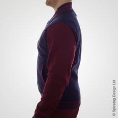 Navy & Burgundy Varsity Jacket