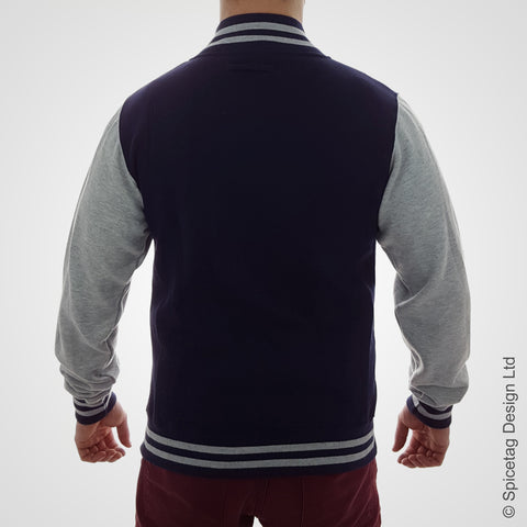 Navy & Heather Varsity Jacket