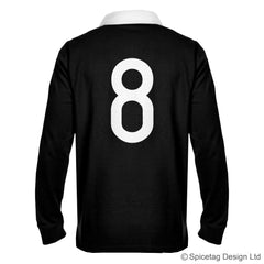 New Zealand Zealander all blacks black kiwi 6 six nations rugby sweater sweatshirt top kit jumper jersey retro 70s 80s badge spicetag