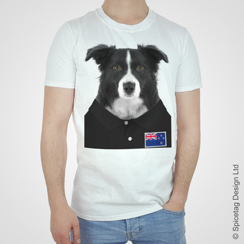 New Zealand Rugby Border Collie T-shirt