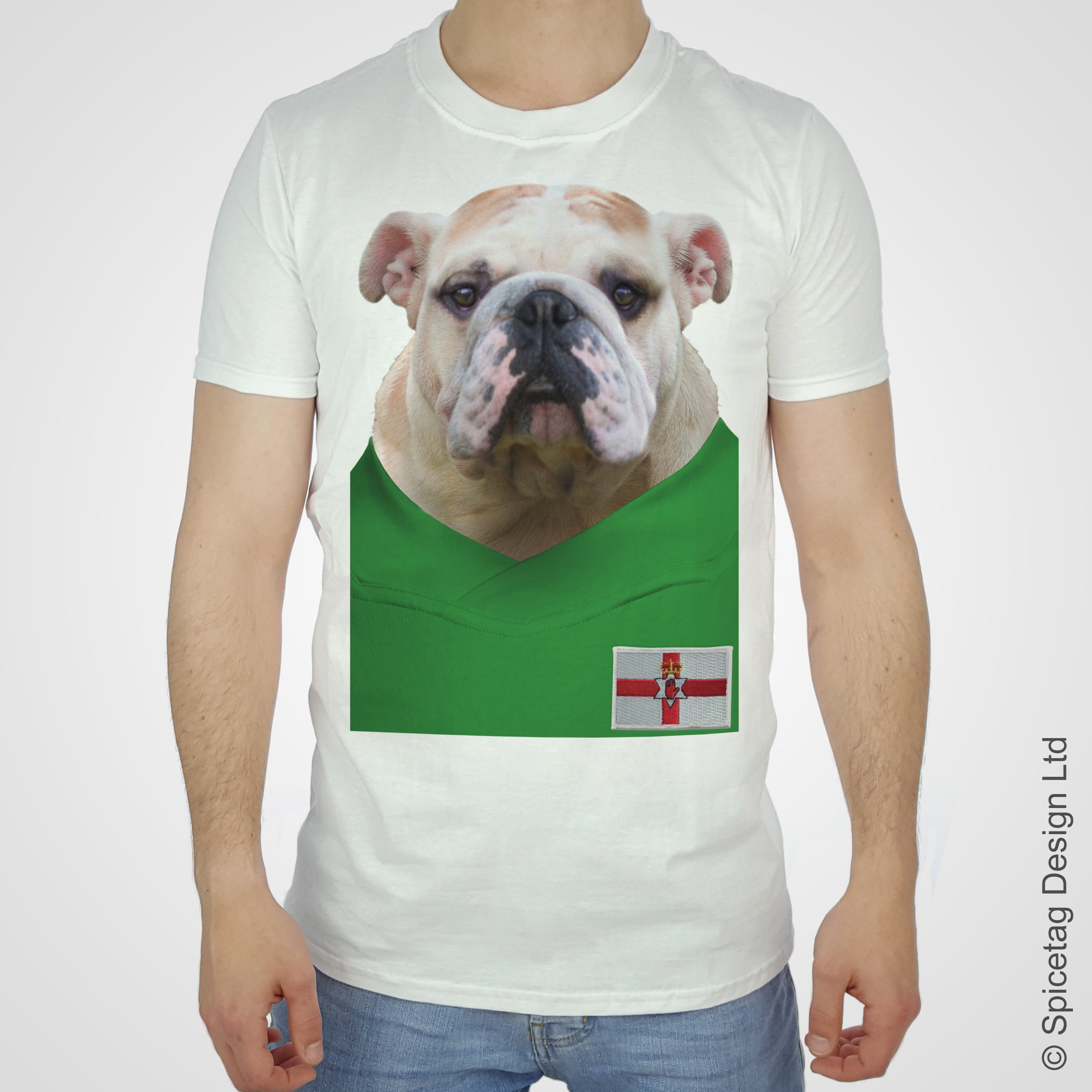 Northern Ireland Football Bulldog T-shirt
