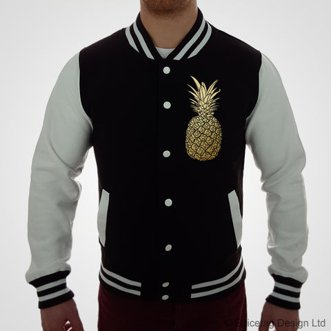 Gold Pineapple Varsity Jacket
