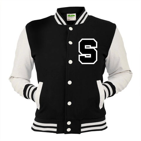 Personalised Black Varsity Jacket