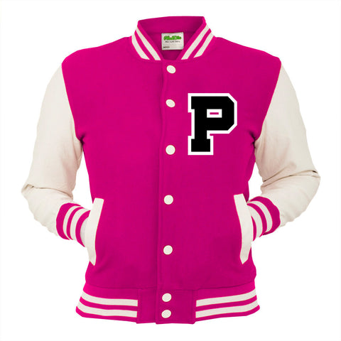 Personalised Pink Varsity Jacket