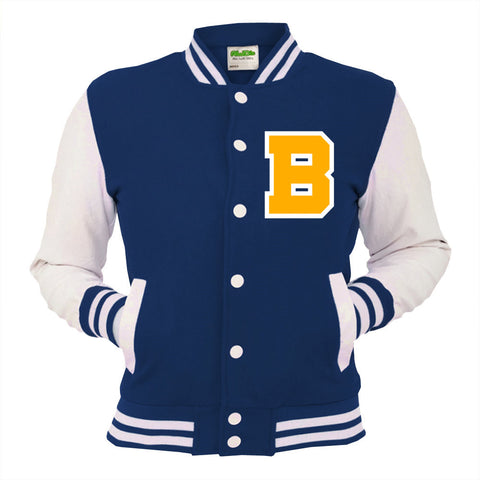 Personalised Navy Varsity Jacket