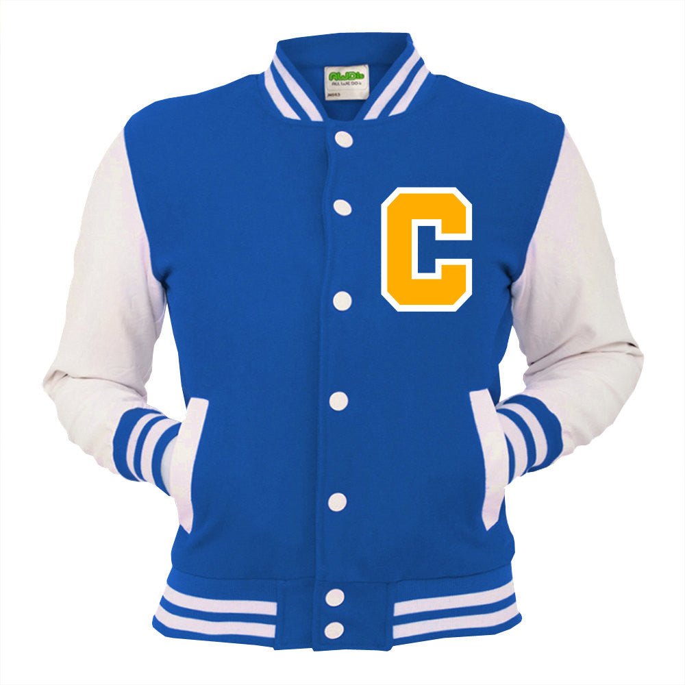 Personalised Blue Varsity Jacket