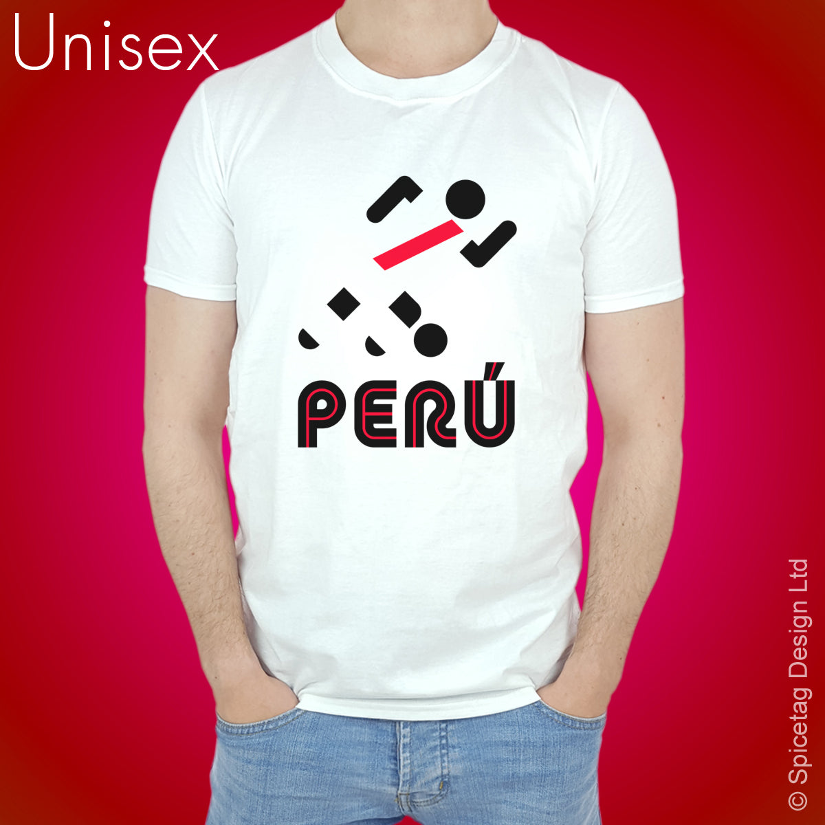 Peru Retro Football T-shirt