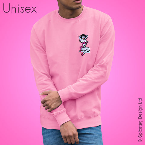 Pink Pin Up Girl Sweater