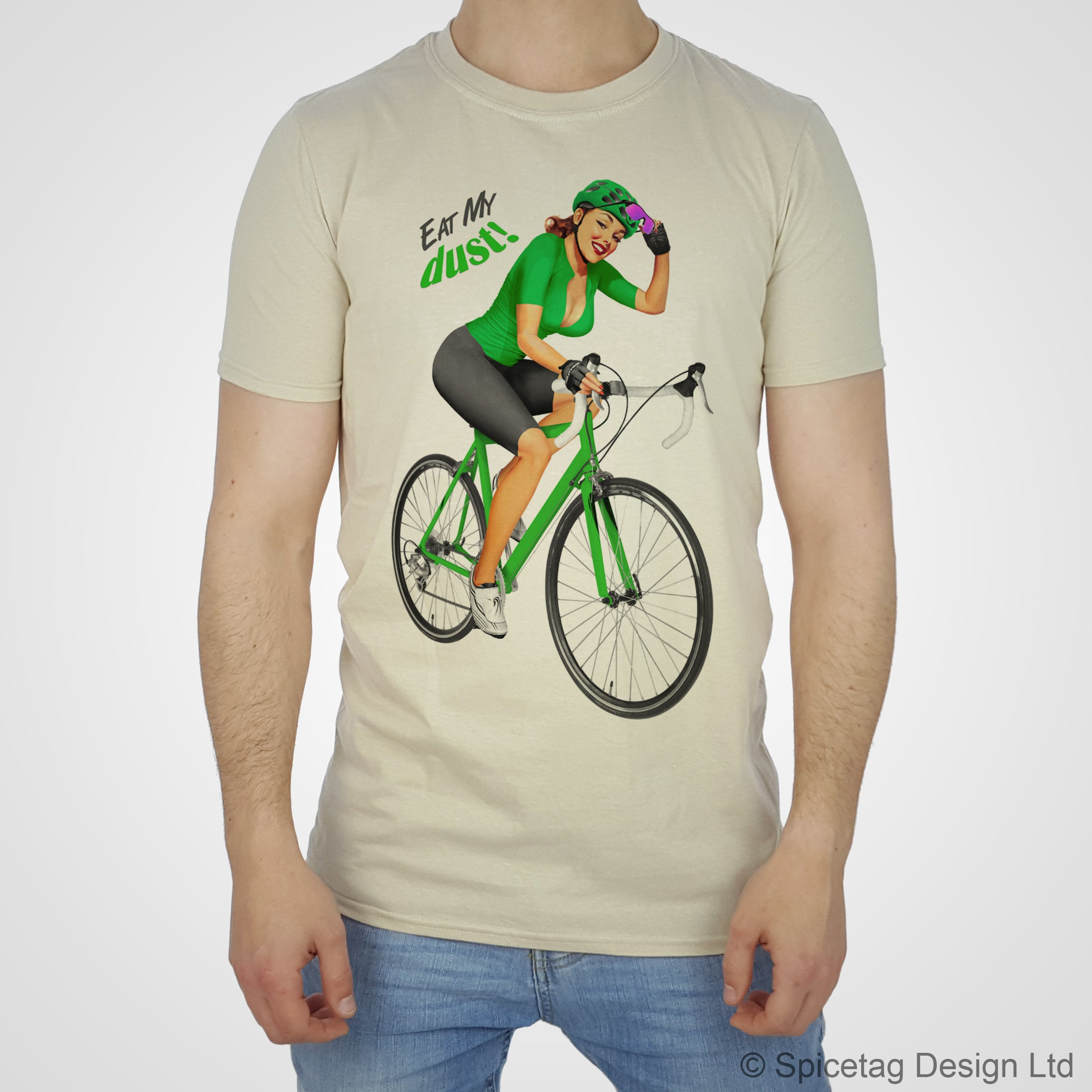 Cycling Pin-Up Girl Green Jersey T-shirt