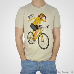 Cycling Pin-Up Girl Yellow Jersey T-shirt