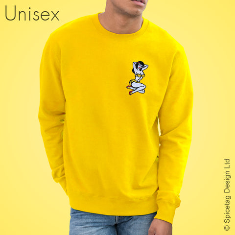Yellow Pin Up Girl Sweater