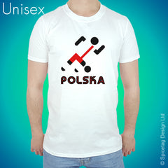 Poland Retro Football T-shirt