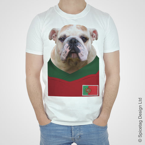 Portugal Football Bulldog T-shirt