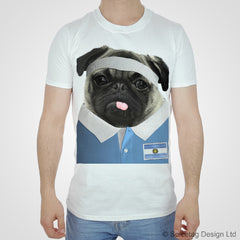 Argentina Rugby Pug T-shirt