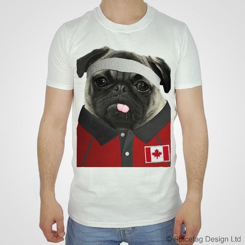 Canada Rugby Pug T-shirt