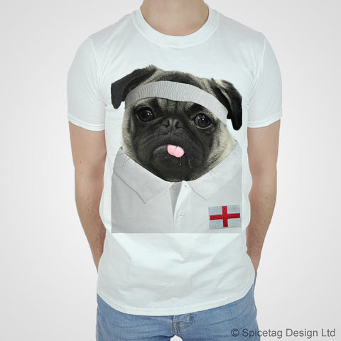 England Rugby Pug T-shirt