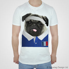 France Rugby Pug T-shirt
