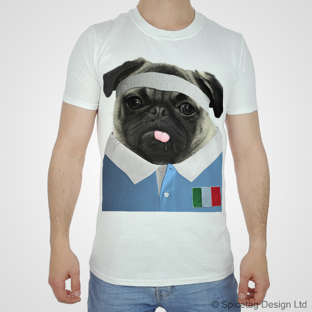 Italy Rugby Pug T-shirt