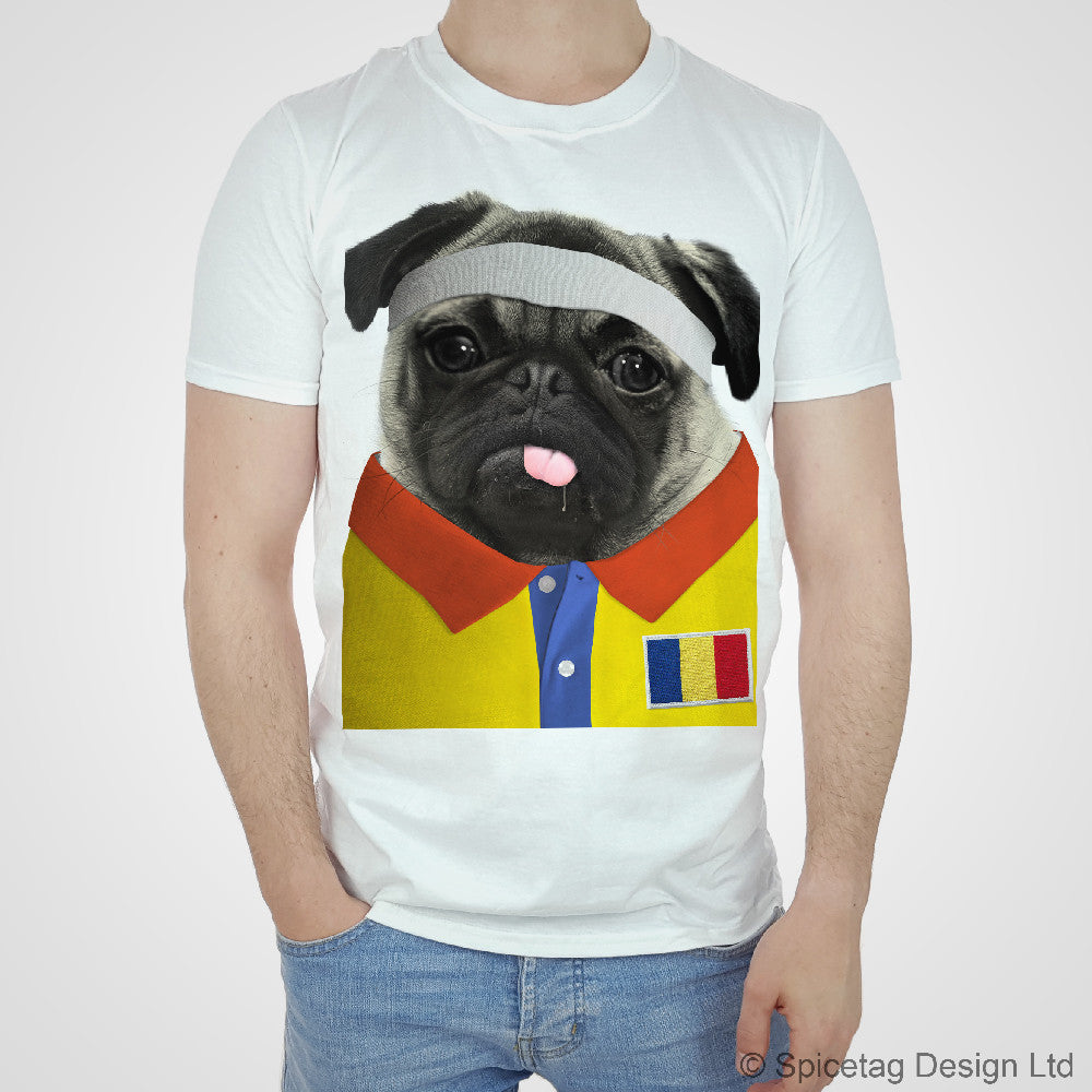 Romania Rugby Pug T-shirt